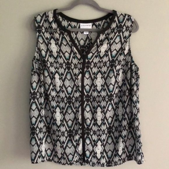 Pure Energy Tops - Plus Size Pure Energy Print Top